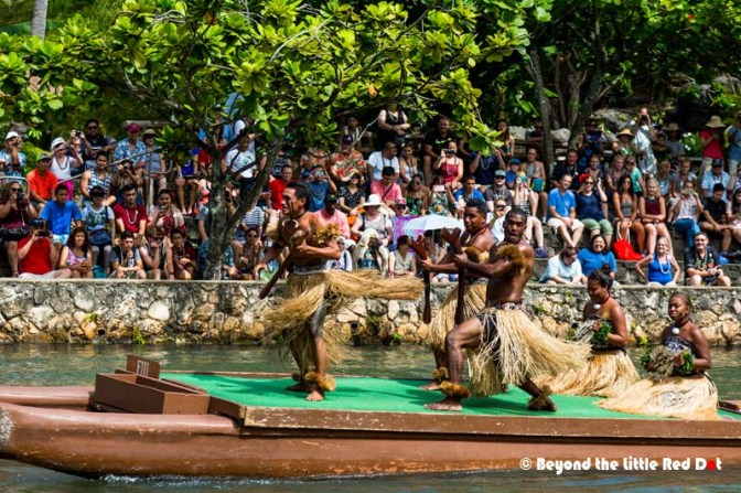The canoe pageant which shows off the various dances of the Polynesians.