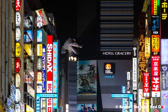 isn't that Godzilla hiding just behind that building?