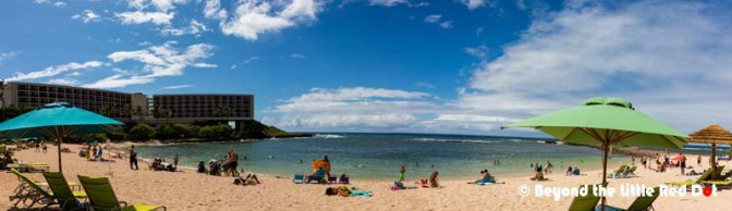 Keep driving north and you will come to Turtle Bay. There is a resort here, as well as, a public beach.