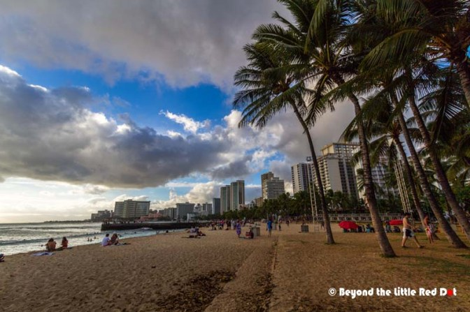 Waikiki beach is actually quite short, with most of it reserved for surfing.