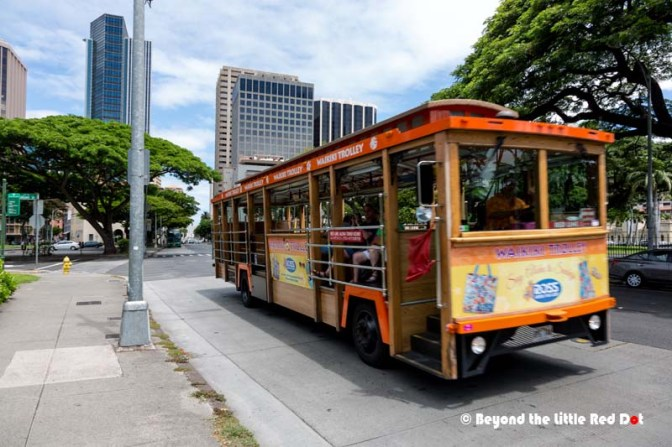The Waikiki Trolley is a convenient way to sight see in Honolulu.